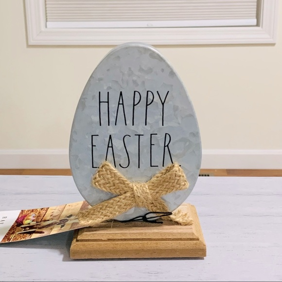 Rae Dunn galvanized metal sign HAPPY EASTER